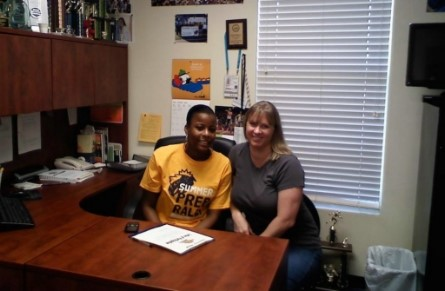 Women's Track & Field Signs Lely High School Product - Warner